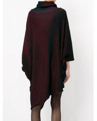 Issey Miyake - Black Knitted Roll Neck Dress - Lyst