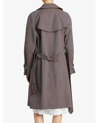 Burberry - Gray Tropical Asymmetric Trench Coat - Lyst