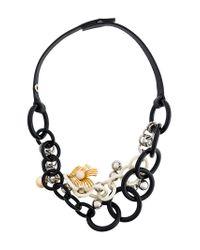 Marni - Black Acrylic Multi-chain Necklace - Lyst