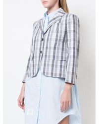 Thom Browne Gray Checked Jacket