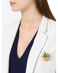 Carven - Metallic Pineapple Collectable Brooch - Lyst