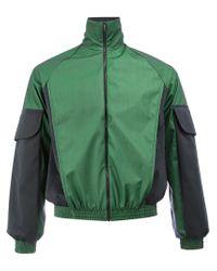 Cottweiler - Green Contrast Sleeve Zipped Jacket for Men - Lyst