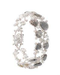 Saqqara | Metallic Diamond Bracelet | Lyst