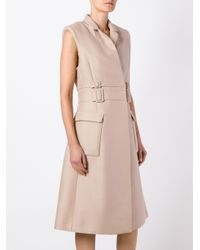 Carven - Blue Trench Dress - Lyst