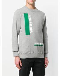 Sacai - Gray Uniform Conquest Graphic Sweater for Men - Lyst