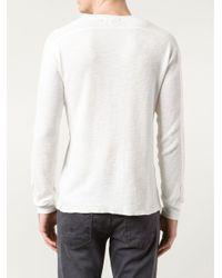 RRL - White Ribbed T-shirt for Men - Lyst