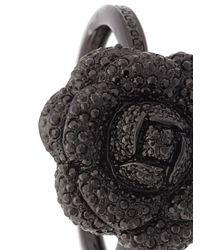 Oscar de la Renta - Black Gardenia Pave Bracelet - Lyst
