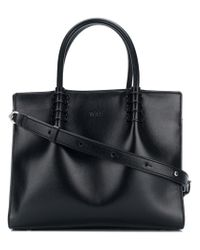 Tod's Black Lady Moc Small Tote