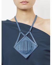 Papieta - Blue Geometric Necklace - Lyst