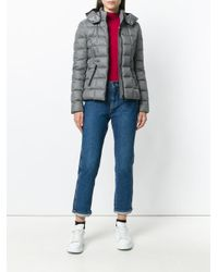 Rossignol - Gray Hooded Padded Jacket - Lyst