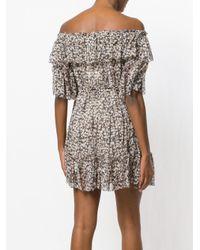 Zimmermann Black Off-shoulder Floral Dress