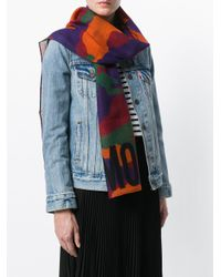 Moschino - Multicolor Camouflage Logo Scarf - Lyst
