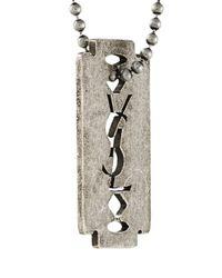 Saint Laurent - Metallic Tag Pendant Necklace for Men - Lyst