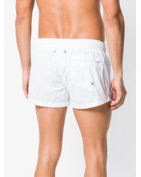 Dirk Bikkembergs - White Side Strip Swim Shorts for Men - Lyst