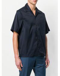 Prada - Blue Classic Short Sleeved Shirt for Men - Lyst