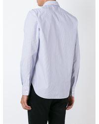 Aspesi - Blue Chest Pocket Shirt for Men - Lyst
