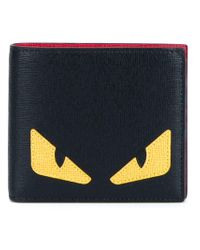 Fendi - Black Bag Bugs Billfold Wallet for Men - Lyst
