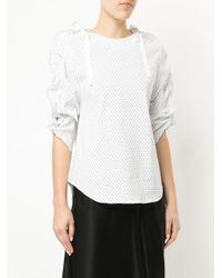 Christopher Esber - White Dual Coiled Zip Top - Lyst