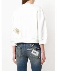 Dolce & Gabbana - White Love Metallic Embellished Sweatshirt - Lyst