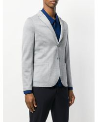 Harris Wharf London - Blue Casual Distressed Jacket for Men - Lyst