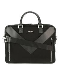 DIESEL | Black 'mr V-brief' Briefcase for Men | Lyst