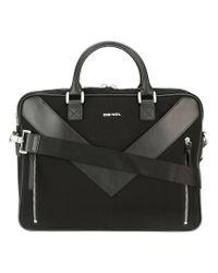 DIESEL | Black 'mr V-brief' Briefcase for Men | Lyst
