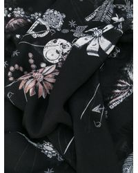 Alexander McQueen - Black Jewelled Skull Scarf - Lyst