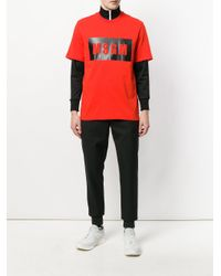MSGM - Red Logo T-shirt for Men - Lyst