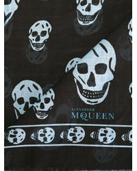 Alexander McQueen - Black Skull Scarf for Men - Lyst