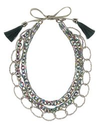Night Market | Gray Long Beaded Loop Necklace | Lyst
