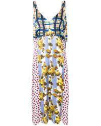 Marni - Multicolor Patchwork Print Shift Dress - Lyst