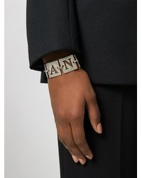 Armani Jeans | Metallic Cut Out Square Bracelet | Lyst