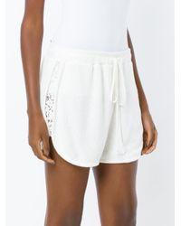 Martha Medeiros - White Lace Boxer Shorts - Lyst