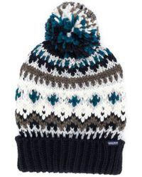 Woolrich - Blue Fairisle Pom-pom Beanie Hat for Men - Lyst