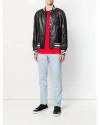 Givenchy - Black Logo Embroidered Bomber Jacket for Men - Lyst