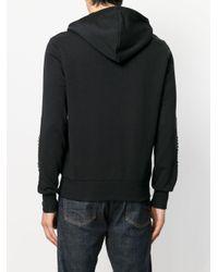 Hydrogen - Black Studded Sleeves Hoodie for Men - Lyst