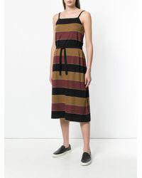 A.P.C. - Black Striped Midi Dress - Lyst