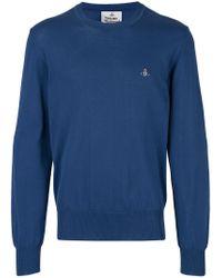Vivienne Westwood - Blue Classic Logo Jumper for Men - Lyst