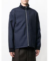 Marni - Blue Zip-front Check Jacket for Men - Lyst