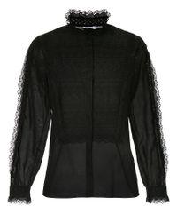 Vilshenko - Black Lace Trim Shirt - Lyst