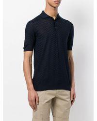 Larusmiani - Blue Chevron Polo Shirt for Men - Lyst
