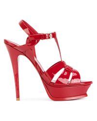 Saint Laurent - Red Tribute Sandals - Lyst