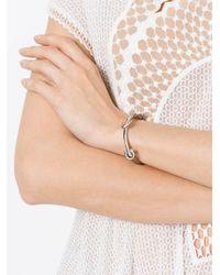 Ferragamo - Gray Gancio Cuff Bracelet - Lyst