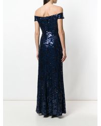 Lauren by Ralph Lauren - Blue Hickory Soiree Dress - Lyst
