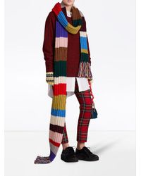 Burberry - Multicolor Long Striped Knitted Scarf - Lyst