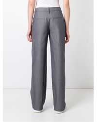 Societe Anonyme - Gray Wide Leg Trousers - Lyst