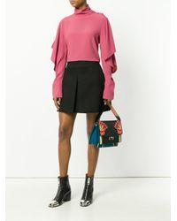 Paula Cademartori - Black Floral Shoulder Bag - Lyst