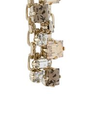 Lanvin - Metallic Embellished Chain Earrings - Lyst