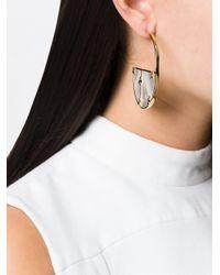 Aurelie Bidermann - Metallic 'bianca' Reversible Hoop Earrings - Lyst