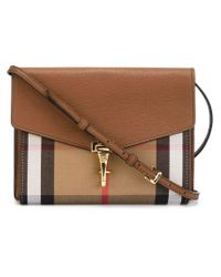 Burberry - Brown House Check Crossbody Bag - Lyst